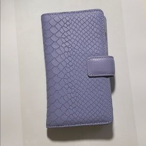Gigi New York lilac iPhone wallet case new